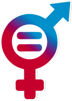 """Gender Equality Symbol - Small Bumper Sticker / Decal (5"""" X 3.25"""")"""