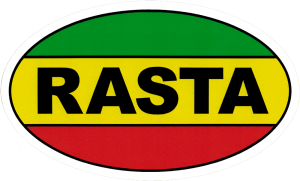 "Rasta - Small Bumper Sticker / Decal (5"" X 3"")"
