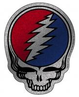 "Grateful Dead Glitter Steal Your Face - Bumper Sticker / Decal (4"" X 5"")"