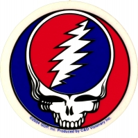 "Grateful Dead Steal Your Face - Bumper Sticker / Decal (2"" Circular)"