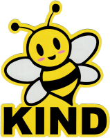 "Bee Kind - Small Bumper Sticker / Decal (3.25"" X 4"")"