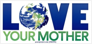 "Love Your Mother - Small Bumper Sticker / Decal (5"" X 2.25"")"