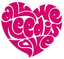 All We Need Is Love Beatles Lennon Heart - Small Bumper Sticker / Decal