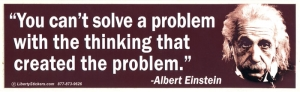 "LS07 - You Can't Solve a Problem with... - Bumper Sticker / Decal (10.5"" X 3"")"