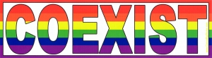 Rainbow Coexist - Bumper Sticker
