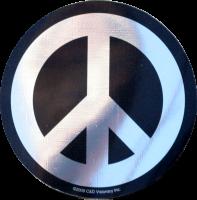 Chrome and Black Peace Sign - Bumper Sticker