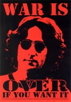 "War is Over if You Want It - John Lennon - Bumper Sticker / Decal (3.5"" X 5"")"