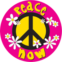 "Daisy Peace Now - Bumper Sticker / Decal (4.5"" X 4.5"")"