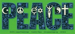 """Coexist in Peace - Bumper Sticker / Decal (7"""" X 3"""")"""
