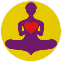 "Yoga Lover - Bumper Sticker / Decal (4.5"" Circular)"