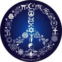 "Coexist Peace Sign - Bumper Sticker / Decal (5"" Circular)"