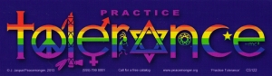 "Practice Tolerance Rainbow - Bumper Sticker / Decal ( 10.25"" X 3"")"