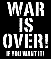 "War is Over! If You Want It - Bumper Sticker / Decal (3.75"" X 4.25"")"
