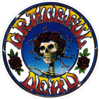 "Grateful Dead Skull and Roses - Bumper Sticker / Decal (5"" Circular)"