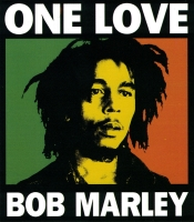 "One Love Bob Marley - Bumper Sticker / Decal (4"" X 4.5"")"