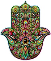 "Hamsa Hand - Bumper Sticker / Decal (4.25"" X 5"")"