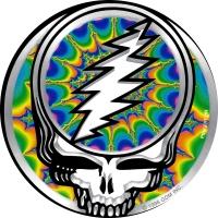"""Grateful Dead Steal Your Face Fractal - Bumper Sticker / Decal (5"""" Circular)"""
