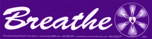 "Breathe - Bumper Sticker / Decal (11.5"" X 3"")"