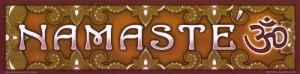 "Namaste - Bumper Sticker / Decal (11"" X 2.75"")"