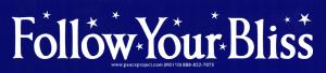 "Follow Your Bliss - Small Bumper Sticker / Decal (6.75"" X 1.5"")"
