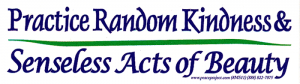 Practice Random Kindness & Senseless Acts of Beauty - Small Bumper Sticker