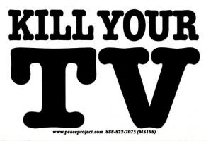 """Kill Your TV - Small Bumper Sticker / Decal (4.25"""" X 2.75"""")"""