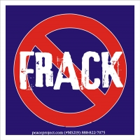 "No Frack - Small Bumper Sticker / Decal (3.5"" X 3.5"")"