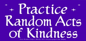 "Practice Random Acts of Kindness - Bumper Sticker / Decal (6.25"" X 3"")"