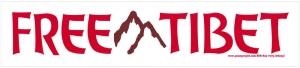 """Free Tibet -  Bumper Sticker / Decal (10"""" X 2.25"""")"""
