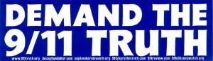 "Demand the 9/11 Truth - Bumper Sticker / Decal (9"" X 3"")"