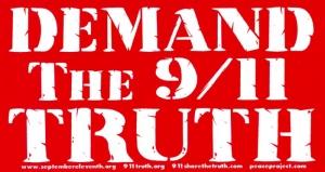 "Demand the 9/11 Truth - Bumper Sticker / Decal (6.5"" X 3.5"")"