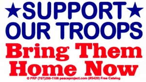 S420 - Support Our Troops, Bring Them Home Now - Bumper Sticker