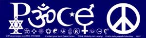 "Peace Symbols - Bumper Sticker / Decal (11"" X 3"")"
