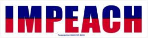 """IMPEACH - Bumper Sticker / Decal (9.25"""" X 2.25"""")"""