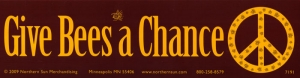 "Give Bees a Chance - Bumper Sticker / Decal (11.5"" X 3"")"