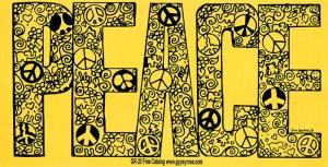 """PEACE - Bumper Sticker / Decal (7.5"""" X 3.75"""")"""
