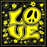 """LOVE - Bumper Sticker / Decal (4"""" X 4"""")"""