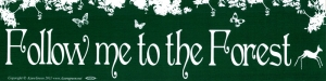 "Follow Me Into the Forest - Bumper Sticker / Decal (11.5"" X 3"")"
