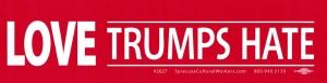 """Love Trumps Hate - Bumper Sticker / Decal (11.5"""" X 3"""")"""