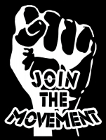 "Join The Movement - Bumper Sticker / Decal (3.75"" X 5"")"