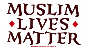 "Muslim Lives Matter - Bumper Sticker / Decal (6"" X 3.5"")"