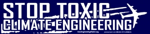 "Stop Toxic Climate Engineering - Bumper Sticker / Decal (10.75"" X 2.5"")"