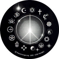 "Peace Light - Bumper Sticker / Decal (5"" circular)"