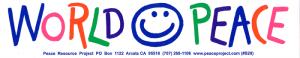 "World Peace - Bumper Sticker / Decal (11"" X 2.25"")"