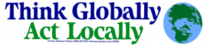 "S068 - Think Globally Act Locally - Bumper Sticker / Decal (11"" X 2.5"")"