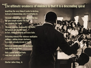 Hate Cannot Drive Out Hate, Only Love Can Do That - MLK - Poster