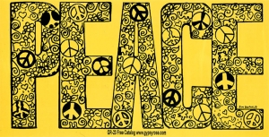 PEACE - Bumper Sticker