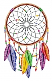 "Dreamcatcher with Rainbow Feathers - Bumper Sticker / Decal (3.5"" X 6"")"