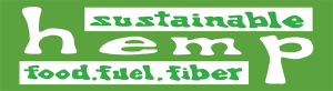 "Sustainable Hemp - Small Bumper Sticker / Decal (5.5"" X 1.5"")"