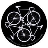 "Bike Cycle - Small Bumper Sticker / Decal (3"" Circular)"